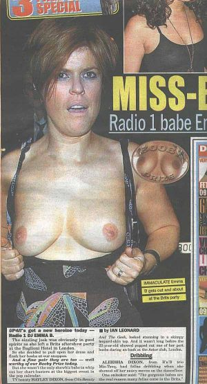Emma B, The Tits That Match The Voice On Radio 1