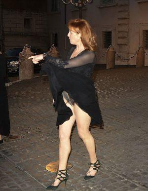 Fergie Accidental Black Pantie Upskirt