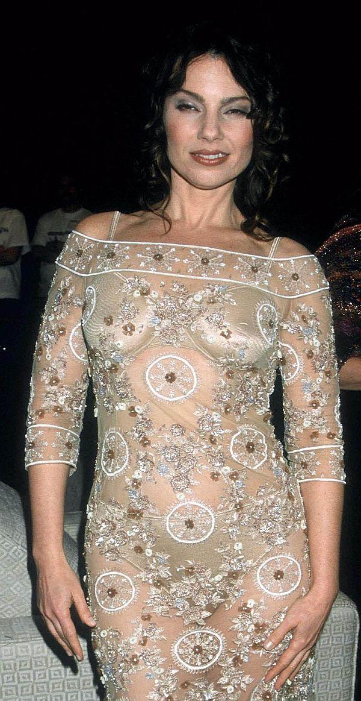 Fran Drescher See Through Dress Highlights Bra And Panties