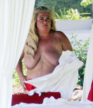 Gemma Collins Topless on Vacation