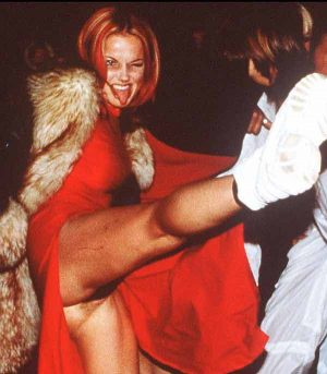 Geri Halliwell, You Need To Watch Those High Kicks When You Have No Knickers On!