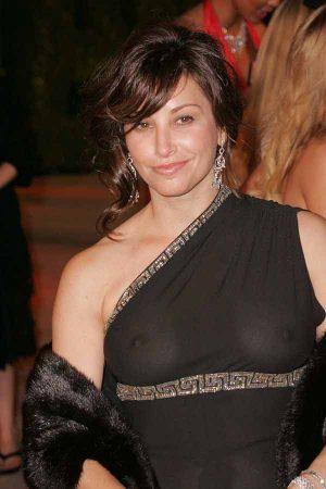 Gina Gershon, A See Through Dress At The Post-Oscars Vanity Party Gives A Mild Dsitraction From  ...
