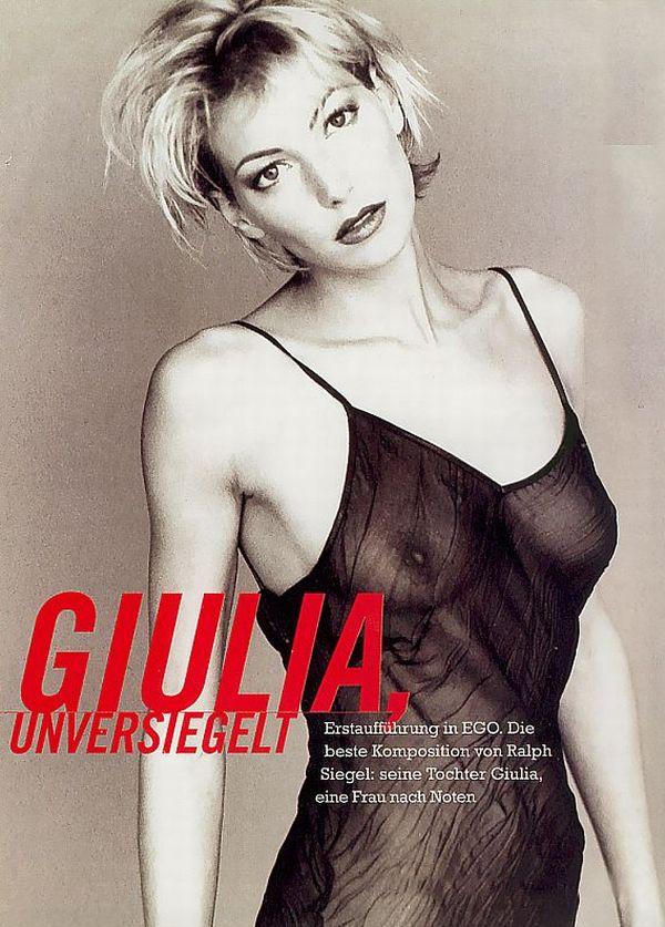 Giulia Siegel See Through Exposes Nipples