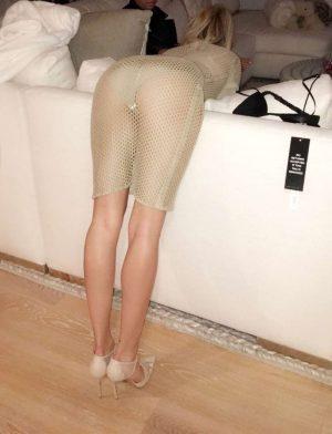 Hailey Baldwin White Thong Upskirt