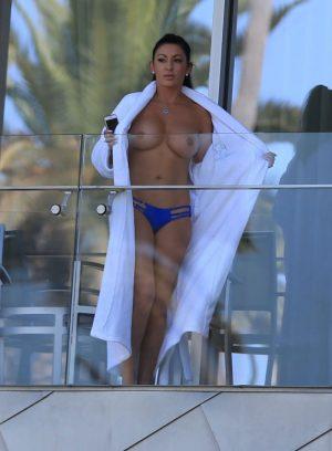 Heather Marianna Caught Topless on a Balcony