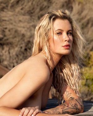 Ireland Baldwin Topless Nip Peek Posed