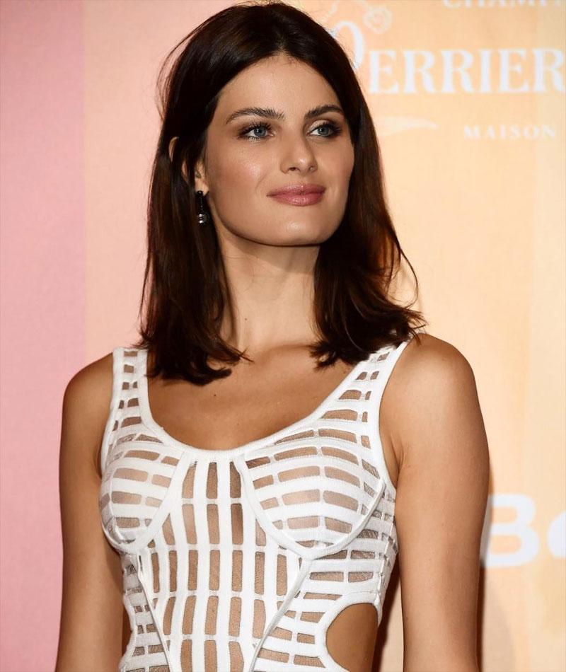 Isabeli Fortana Nipples in Sheer White Dress