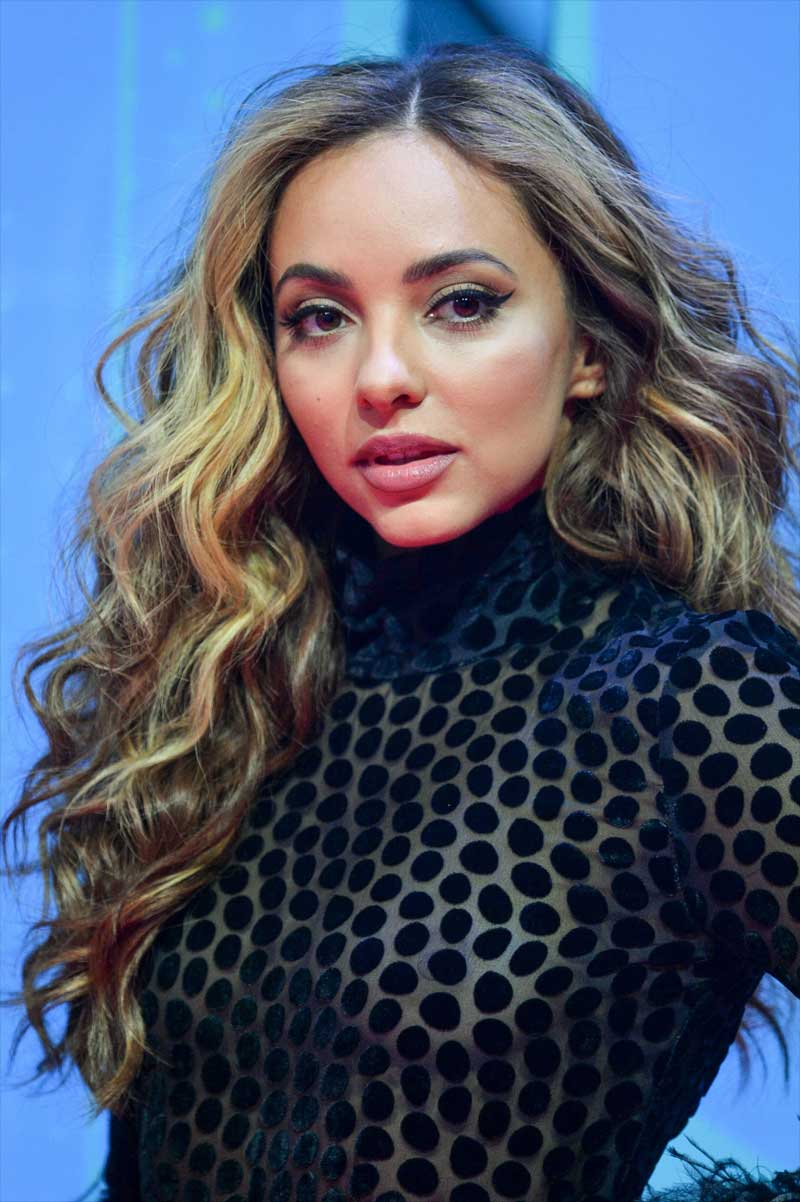 Jade Thirlwall from Little Minx Braless in See Through Blouse