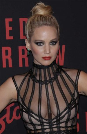 Jennifer Lawrence Areola Peek on the Red Carpet