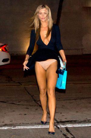 Joanna Krupa Wind Blown Upskirt on a Night Out
