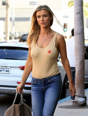 Joanna Krupa Rock Hard Nipples Poking Through her Top