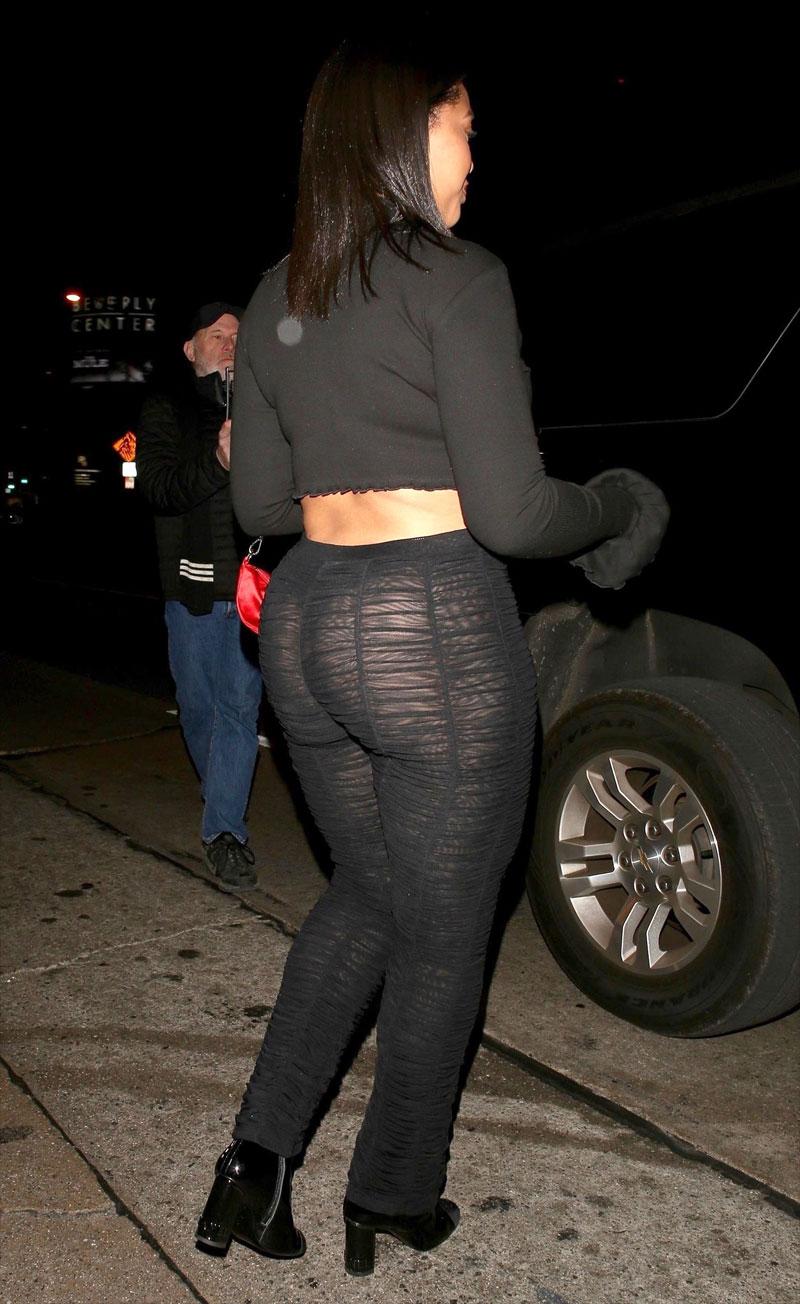 Jordyn Woods Big Booty in Black Thong Panties