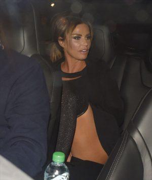 Katie Price No Pantie Upskirt in the Backseat