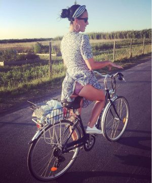 Katy Perry Pantie Peek on her Bike