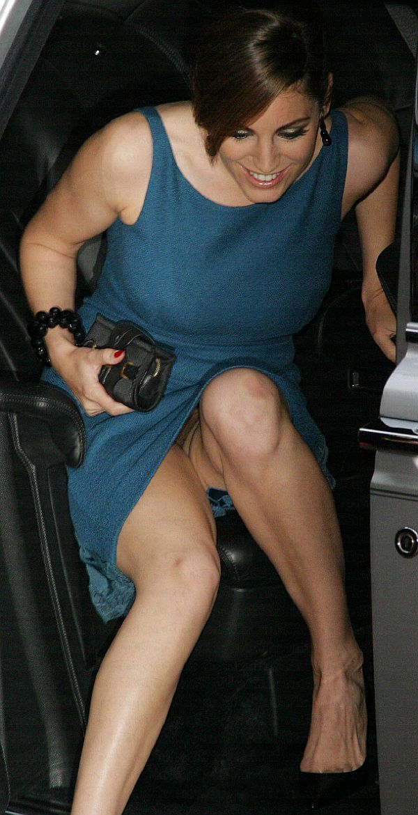 Kelly Brook, No Panties? Ah! The Getting Out Of The Car Routine.