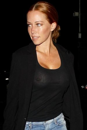 Kendra Wilkinson On a Night Out without a Bra