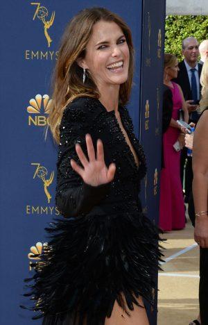 Keri Russell Nipple Peek on the Emmy's Redcarpet