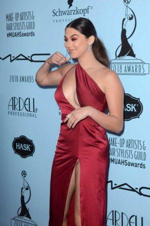 Kira Kosarin with No Panties in Red Dress
