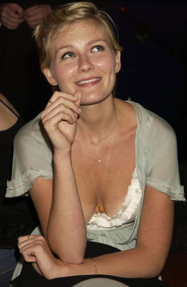 Kirsten Dunst Down Blouse. Just A Bit More, But Still Worth A Peek.