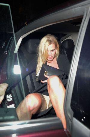 Lara Stone Spanx Covered Upskirt