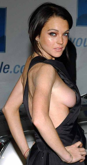 Lindsay Lohan Tit Shot Makes It To The Big Time. Congrats For Making It On A Thousand Web Sites. ...