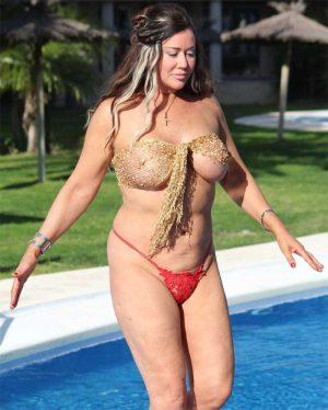 Lisa Appleton Nip Slip Out of her Bikini Top