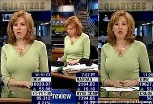 CNBC'S Liz Claman Your High Beams Are on! Chilly in The Studio or Is The Market Up? And Th ...