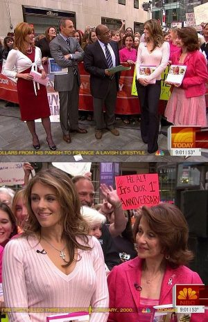 """Liz Hurley Pokies At """"THE TODAY SHOW"""". Indian Summer Is Over."""