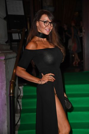 Did Lizzie Cundy Forget to Wear Panties in This Dress?