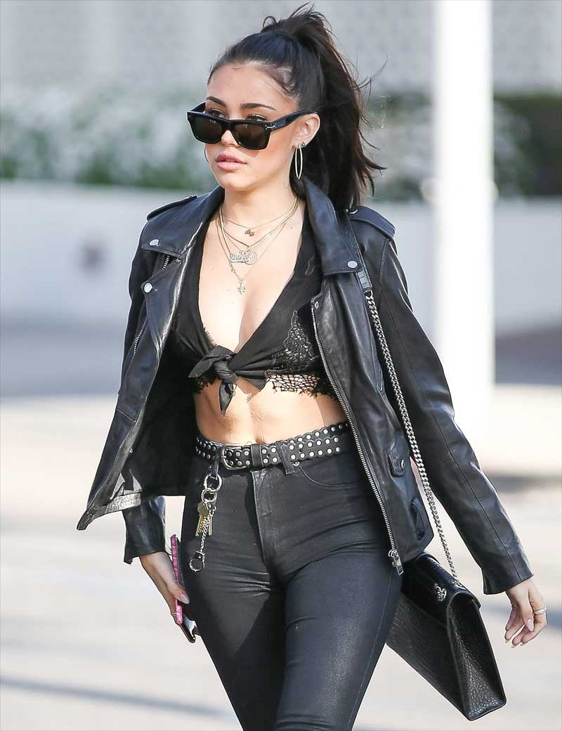 Madison Beer Massive Cameltoe in Tight Black Jeans