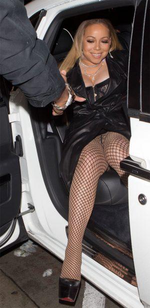 Mariah Carey Fishnet Upskirt