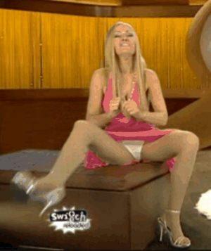 German Actress Martina Hill Panty Upskirt On TV