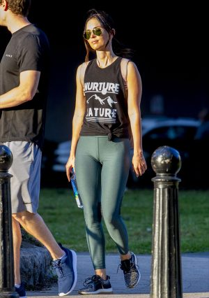 Megan Fox Cameltoe in Work Out Gear