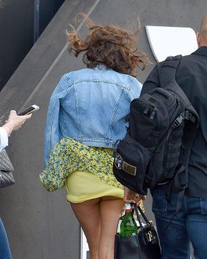 Miranda Kerr Windblown Upskirt on the Street