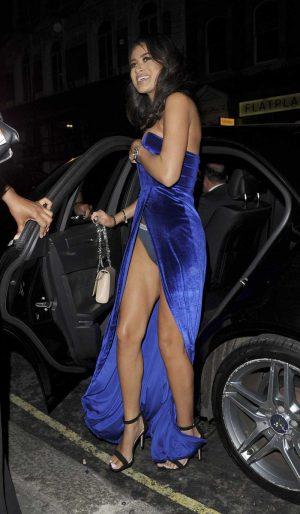 Montana Brown Calvin Klein Panties on Night Out