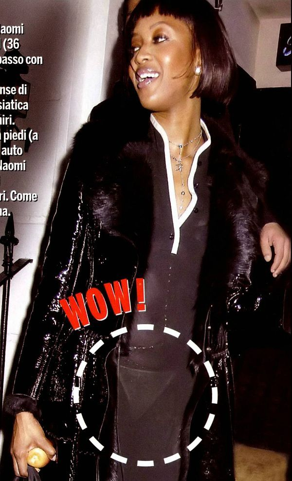 Naomi Campbell See Through Dress