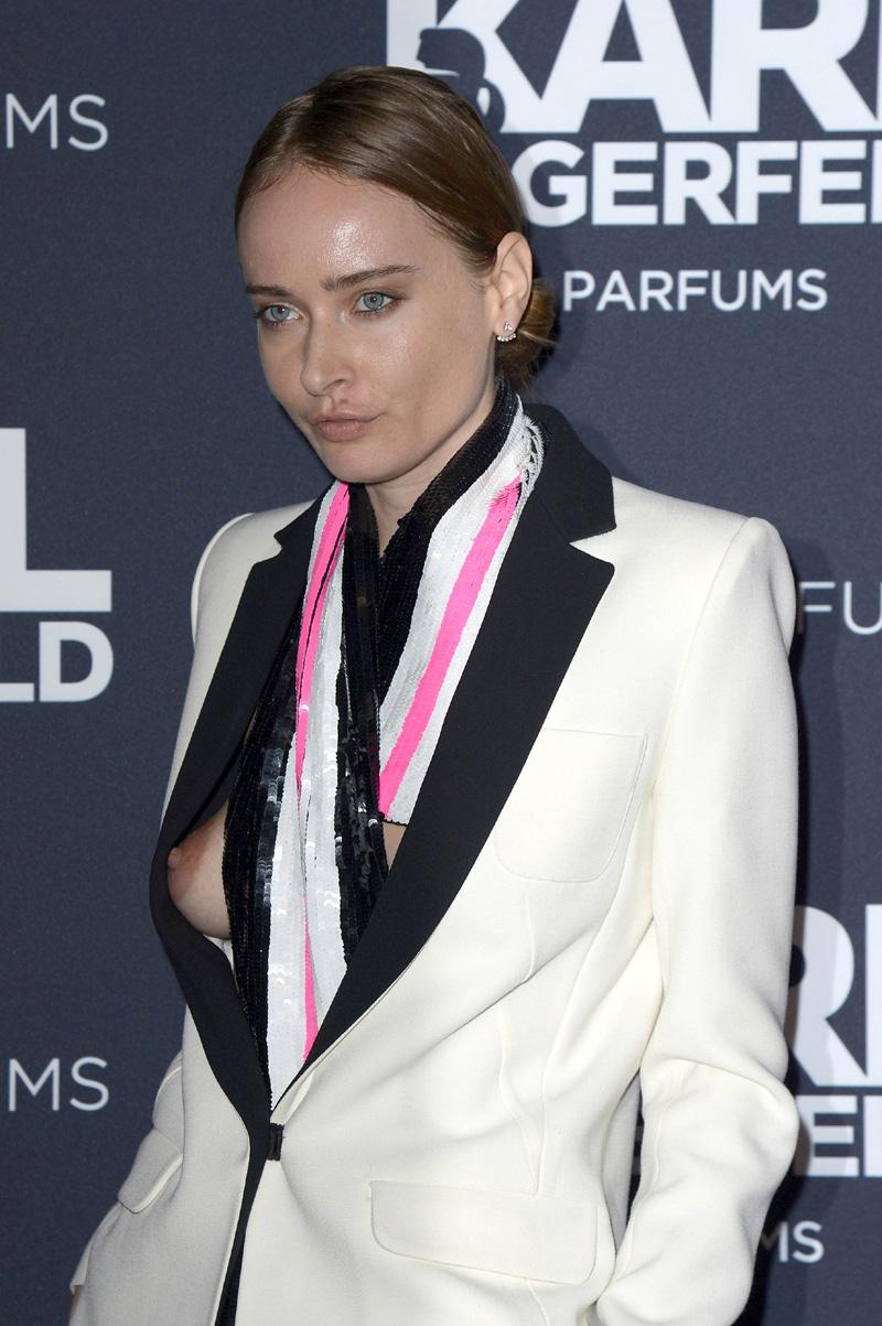 Olga Sorokina Pops Her Nipples Out Of Her Blazer