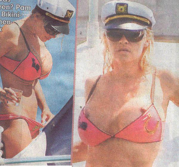 Pamela Anderson Nip  Slips And Bikini Pull.