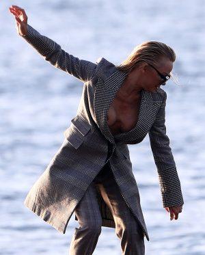 Pamela Anderson Nip Slip on a Photoshoot