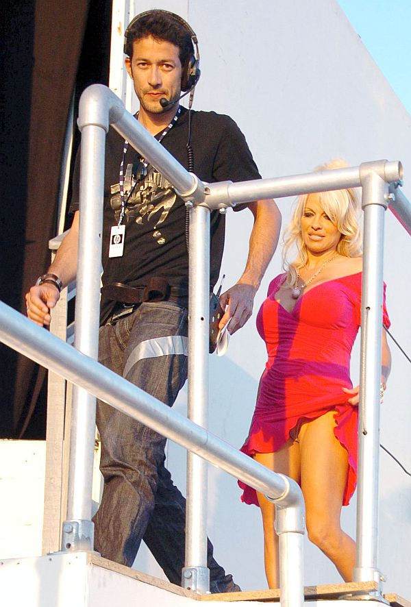 Pamela Anderson Panty Upskirt At Cannes