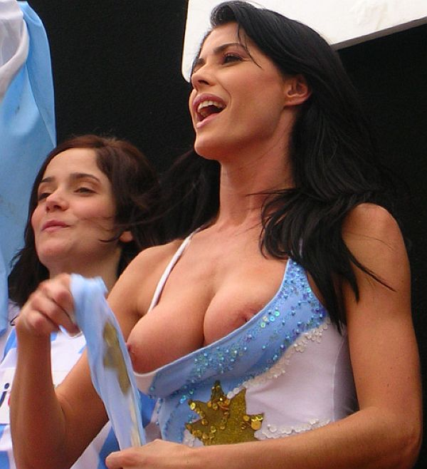 Pamela David Topless At A Soccer Match. Thanks To Helena For Her Snaps!