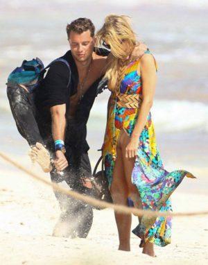Paris Hilton Flesh Colored Bikini Upskirt