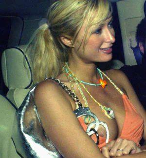 Paris Hilton, Nice Nip Slip, Thanks To Your Handcuffs!