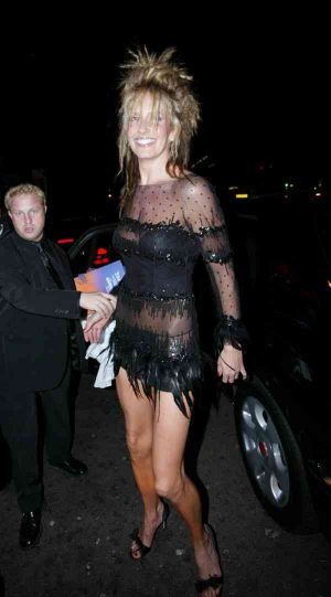 Penny Lancaster, Attracting Attention With a See Through Thong Shot After Bearing Rod's 7t ...