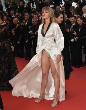Petra Nemcova Upskirt on the Cannes Red Carpet