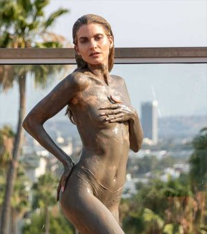Rachel McCord Topless Nipple Slip Covered in Mud