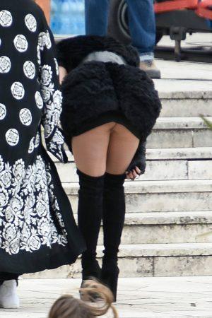 Rita Ora Upskirt on a Video Shoot