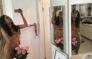Rosario Dawson Naked Taking a Selfie