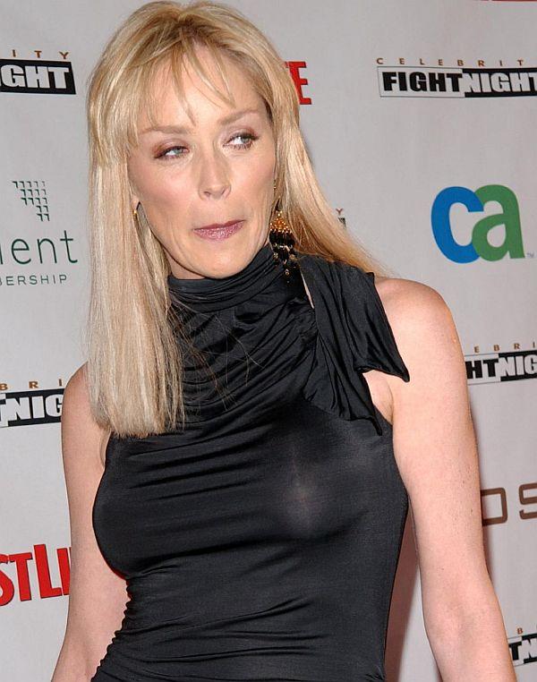 Sharon Stone See Through Dress