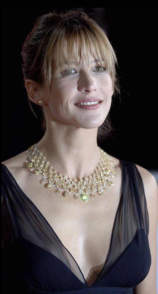 Sophie Marceau See Through Dress Reveals Aureolas